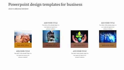 A four noded Powerpoint design templates for business
