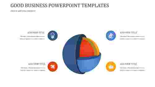 A four noded GOOD BUSINESS POWERPOINT TEMPLATES