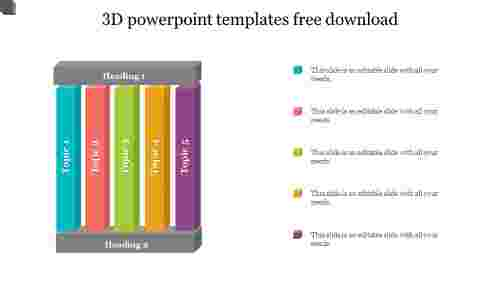 A two noded 3D POWERPOINT TEMPLATES FREE DOWNLOAD 2019