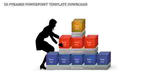 3DpyramidPowerPointtemplatedownloadformarketing