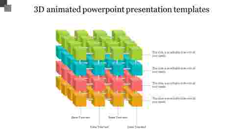 A six noded 3D ANIMATED POWERPOINT PRESENTATION TEMPLATES