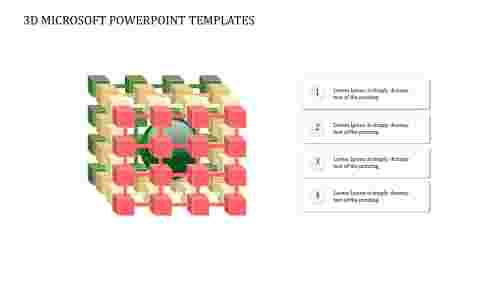 3D%20Microsoft%20PowerPoint%20Templates%20With%20Four%20Node