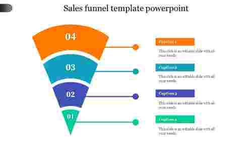 SALES FUNNEL TEMPLATE POWERPOINT - Glass model