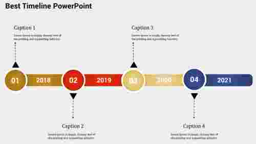 horizontal Best Timeline PowerPoint