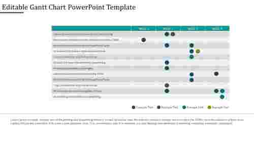 Project gantt Chart Powerpoint Template