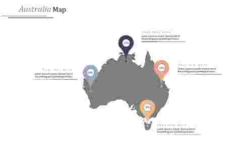 Australia Map Powerpoint Template