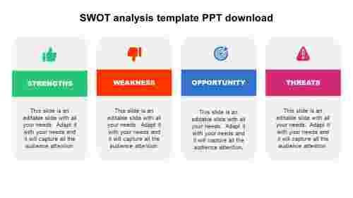 Business SWOT analysis template PPT download