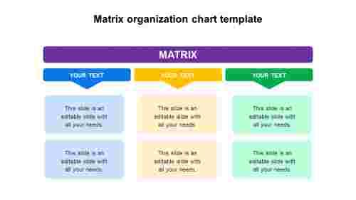 Matrix organization chart template design