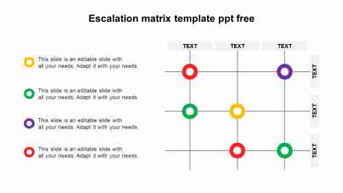 SimpleEscalationmatrixtemplatePPTfree