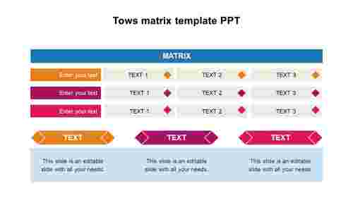 TowsmatrixtemplatePPTdesigns