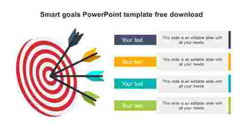 Simple Smart goals PowerPoint template free download