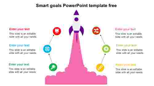 Simple Smart goals PowerPoint template free