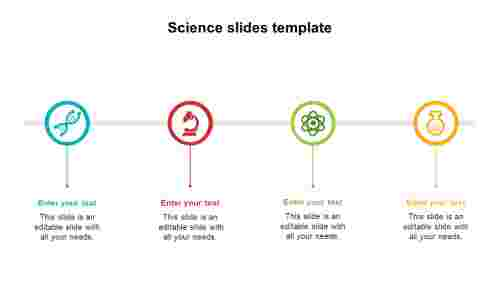 Science slides template designs