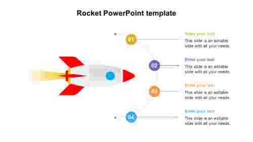 Rocket PowerPoint template diagram