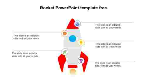 Simple Rocket PowerPoint Template Free