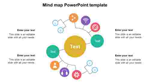 Mind map PowerPoint template diagram