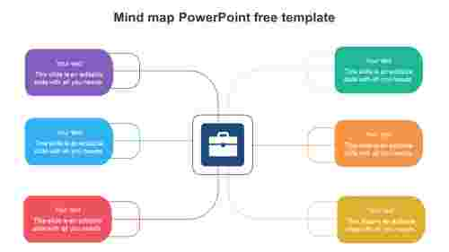 Simple Mind map PowerPoint free template