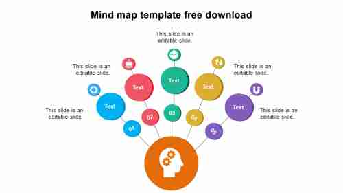 Attractive Mind map template free download