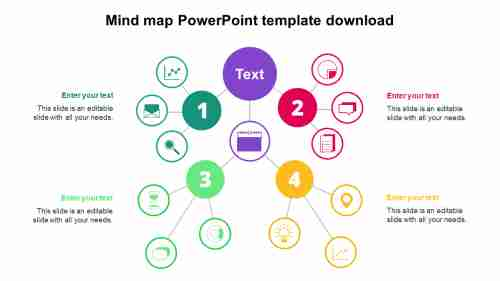Simple Mind map PowerPoint template download