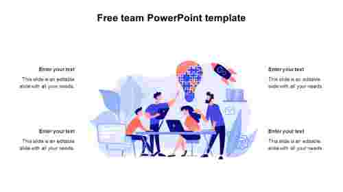 Free team PowerPoint template