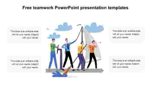 Free teamwork PowerPoint presentation templates diagrams