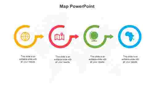 MapPowerPointtemplatesslide
