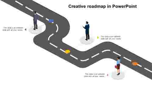 CreativeroadmapinPowerPointpresentation