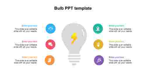 Bulb PPT template diagrams