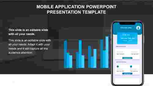 Mobile application PowerPoint presentation template diagrams