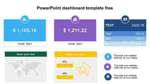 PowerPoint dashboard template free diagrams