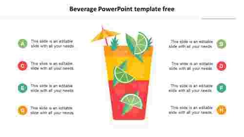 Elegant Beverage PowerPoint template free