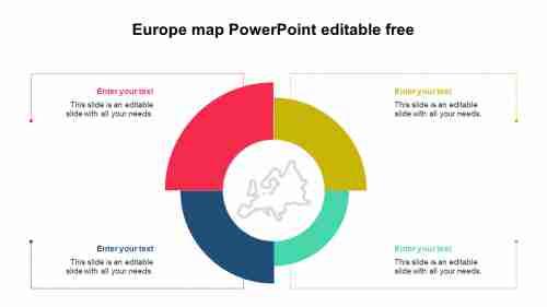 SimpleEuropemapPowerPointeditablefree