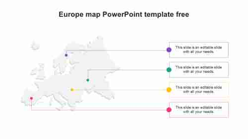 Europe map PowerPoint template free download