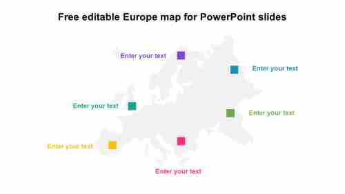 DownloadFreeeditableEuropemapforPowerPointslides