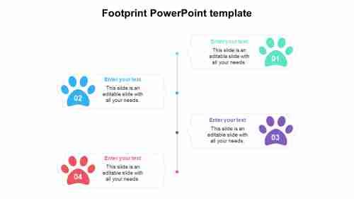 FootprintPowerPointtemplatediagrams