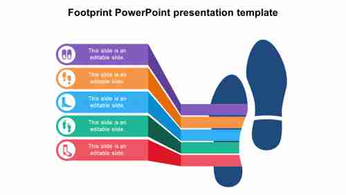 SimpleFootprintPowerPointpresentationtemplate