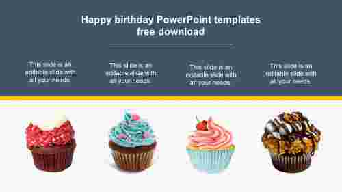 Happy birthday PowerPoint templates free download