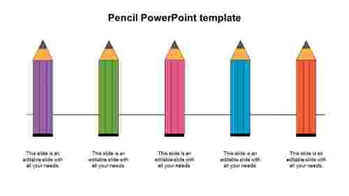 PencilPowerPointtemplatediagram