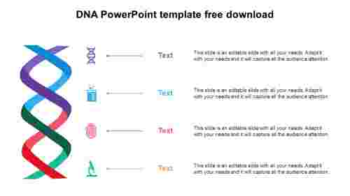 DNA PowerPoint template free download