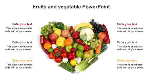 Fruits and vegetable PowerPoint
