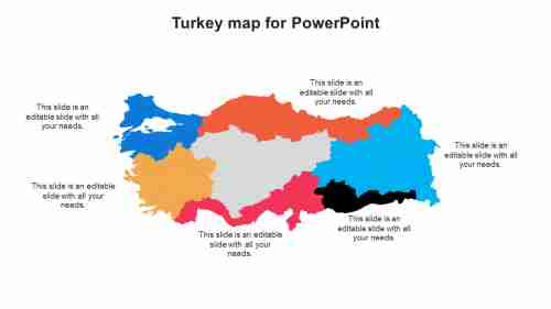 Turkey map for PowerPoint
