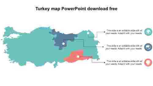 SimpleTurkeymapPowerPointdownloadfreeslide