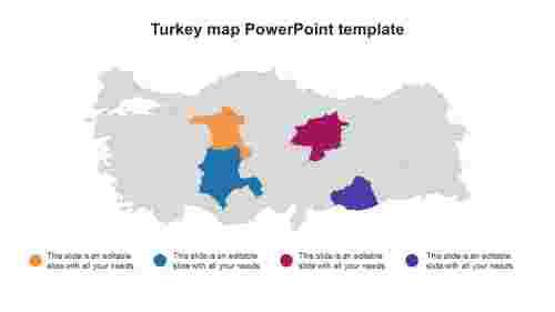 TurkeymapPowerPointtemplatedesigns