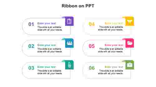 Ribbon on PPT