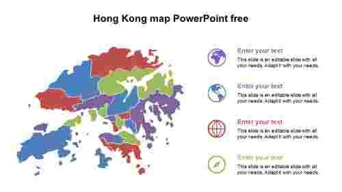 HongKongmapPowerPointfreetemplates