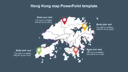HongKongmapPowerPointtemplatediagrams
