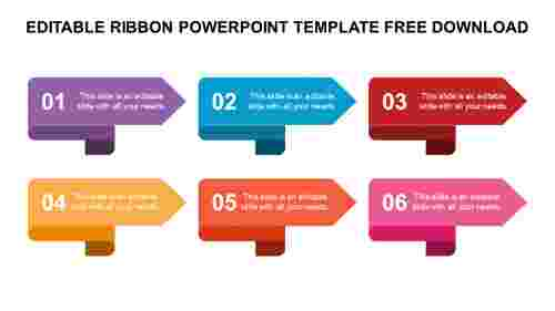 EDITABLE RIBBON POWERPOINT TEMPLATE FREE DOWNLOAD
