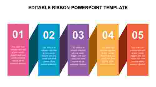 EDITABLE RIBBON POWERPOINT TEMPLATE