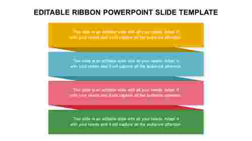 EDITABLE RIBBON POWERPOINT SLIDE TEMPLATE