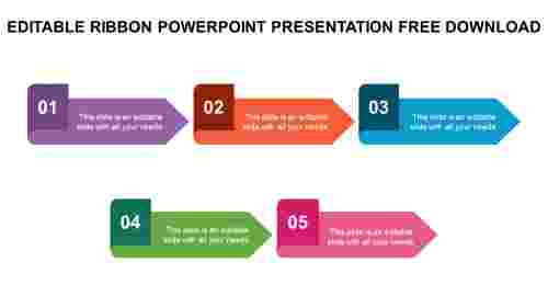 EDITABLE RIBBON POWERPOINT PRESENTATION FREE DOWNLOAD